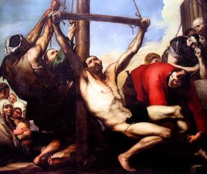 "Хусепе де Рибера, Спаньолетто (1591 – 1652). ""Мученичество апостола Филиппа""."