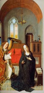 """Дзерыц  Боўтс (1415 – 1475). """"Сцэна Звеставання"""", Прадо, Мадрыд."""