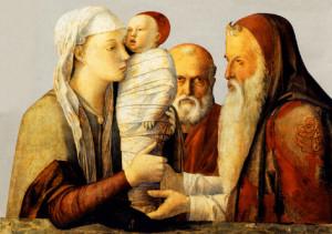 """Джовані Беліні (1430 – 1516), """" Ахвяраванне  Езуса  ў Святыні"""", Венецыя."""