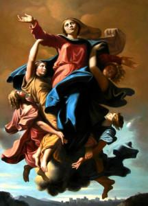 """Ніколас Поўсін (1594 – 1665), """"Унебаўшэсце Марыі"""", Лувр, Парыж"""