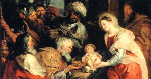 "Картина Рубенса (1577-1640)  ""Дар трех королей""."