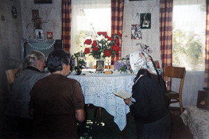 Ружанцовая малітва ў доме Эміліі Ліснеўскай