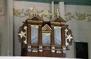 Орган в костеле св. Иоанна Крестителя в д. Волпа Волковыского района.