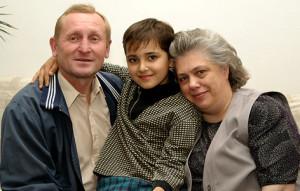 З мужам Леанідам і ўнукам Патрыкам.