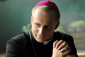 Акцёр Пётр Адамчык ў ролі Папы Рымскага св. Яна Паўла II.