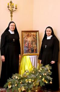 Сёстры Наталля і Тамара з Кангрэгацыі Сясцёр Місіянерак  Святой Сям'і, MSF падчас урачыстасці Святой Сям'і