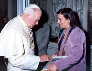 З Папам Янам Паўлам II. Здымак 1994 года..