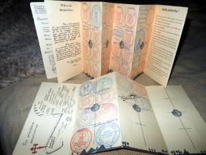 Креансьяль – паспорт  пилигрима с печатями