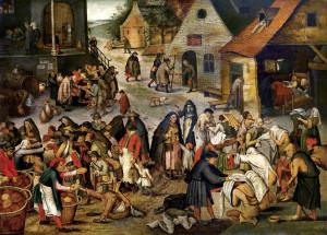 "Питер Брейгель - младший  1564 (1565) – 1636.  ""Семь деяний милосердия""."
