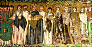 Император Юстиниан I Великий  и его супруга Феодора