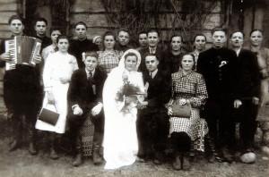Вяселле Яна  і Браніславы Чарнец, студзень 1950 года.