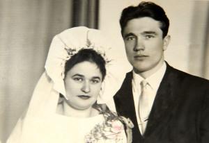 Соф'я і Іван Мінкевіч у дзень шлюбу. 9 лютага 1963 года