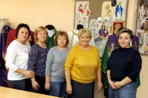 На снимке слева направо: Елена Мухина, Ольга Садовская, Ирина Кондратович,  Людмила Привалова и Ирина Голуб.