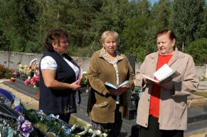 На здымку злева направа: Ірына Бышынская, Ядвіга Капуста і Альбіна Кульніс