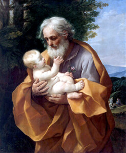 Гвидо Рени. Святой Иосиф с младенцем Иисусом. 1620-е гг copy