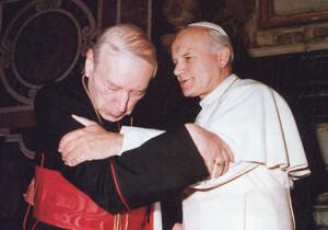 Кардынал Стэфан Вышыньскі падчас прыняцця прысягі на вернасць служэння Папе Рымскаму