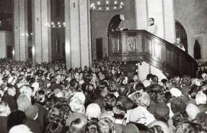 Казанне ў Варшаўскай катэдры 6 студзеня 1977 года.